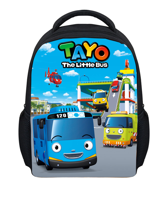 New Fashion Tayo Cartoon Little Bus Backpack Boys Girls Small School Bag Kindergarne Baby Backpacks Child's Gifts Kids Mochila(China (Mainland))