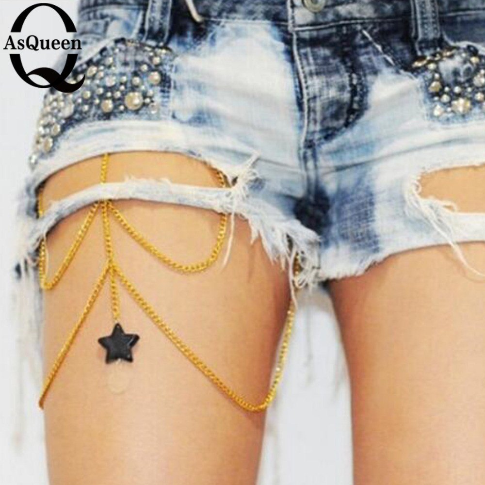 European and American star style of foreign trade jewelry female Body waist chain personality avant-garde leg chains body chain(China (Mainland))