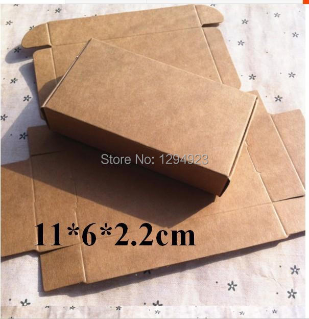 Size 11*6*2.2cm Valentine Christmas Kraft brown favour paper gift box blanks DIY Free Shipping(China (Mainland))