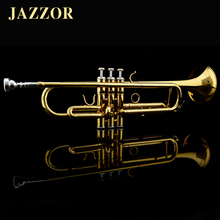 Professional JAZZOR JZTR-300 Beginner Trumpet B Flat Gold Lacquer trompete trompeta musical instruments with trumpet mouthpiece(China (Mainland))