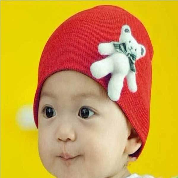 Foxhollow Cute Standing Bear Baby Cotton Hat Cartoon Infant Cap(China (Mainland))