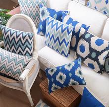 Mediterranean geometric pillow case throw pillows