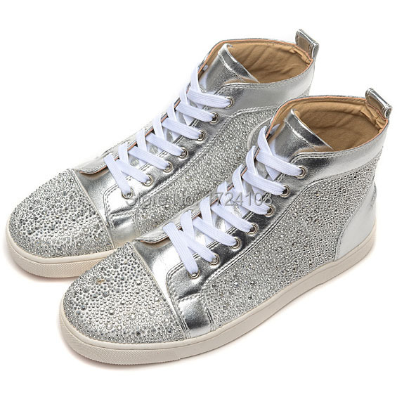 Men Shoes Silver Strass