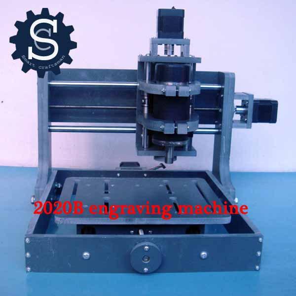 PCB Milling Machine CNC 2020B DIY CNC Wood Carving Mini Engraving Machine PVC Mill Engraver Support MACH3 System(China (Mainland))