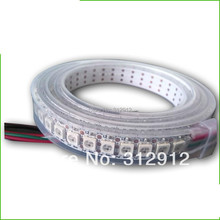 Buy 144leds/m WS2812B (5050 rgb led WS2811 IC built-in) led pixel strip,DC5V,2m long;waterproof silicon tube;white PCB for $34.00 in AliExpress store