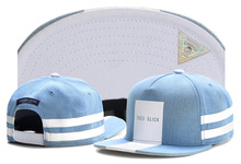 Brand C&S TRES SLICK CAP light blue denim white snapback hat for men women adult sports hip hop street outdoor sun baseball cap