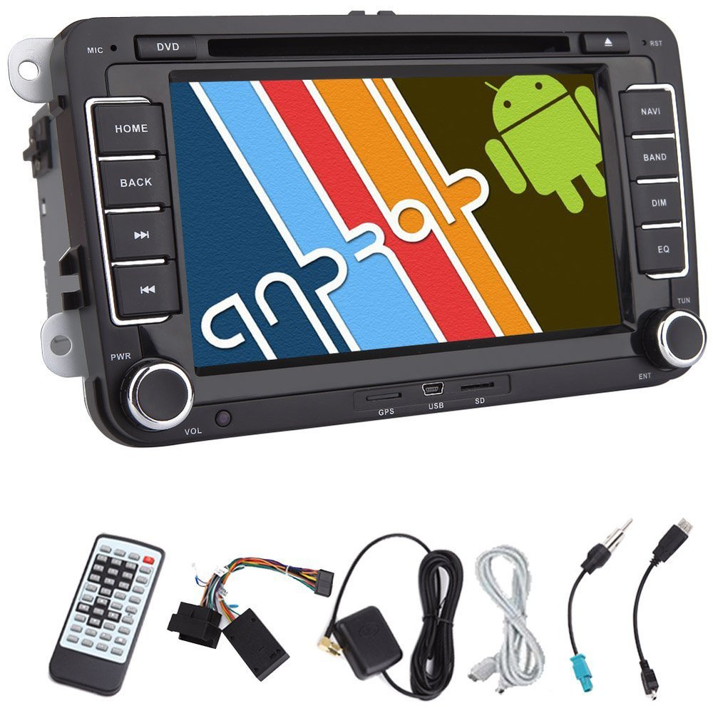 Android 2DIN 4.2 Car DVD Player for Volkswagen 7'' Steering Wheel Control Canbus GPS Car Stereo WIFI Car Radio IPOD/SD/USB/BT