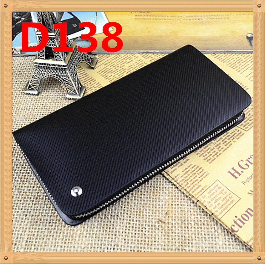 Hot brand men cowhide wallets new 2015 genuine leather men long black wallet male clutch multifunctional dollar price purse D138(China (Mainland))