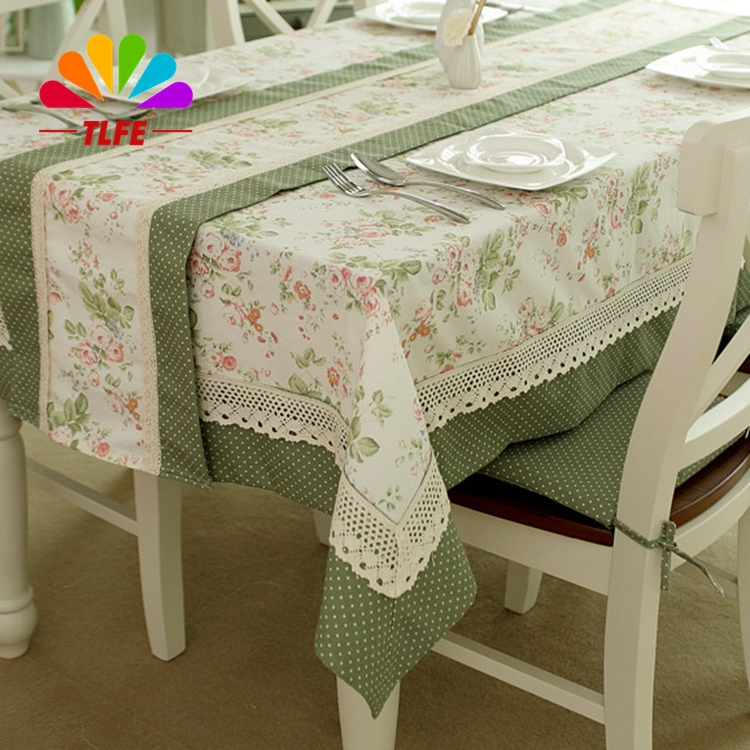 TLFE Home Textile wedding Table Cloth with Lace Jacquard Floral Rectangular Tablecloth to table covers (no chair cover) ZB024(China (Mainland))