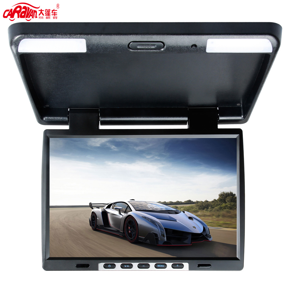 """FULL Size 15.6"""" TFT Screen Car Flip Down Monitor Roof Auto Overhead Monitor 16:9 Wide Screen Resolution 1440 * 900(China (Mainland))"""