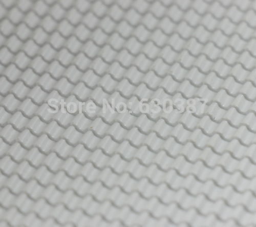 ABS40 2pcs ABS Plastic Styrene Plasticard Roof Tiles Sheet 215mm x 300mm White(China (Mainland))