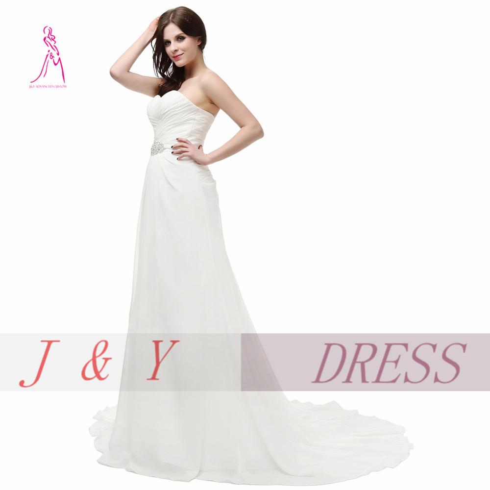 Jy 2016 New Sexy querida Chiffon frisado plissado longo Vestido De Noiva Lace Up vestidos De casamento A – linha Formal Vestido De Noiva