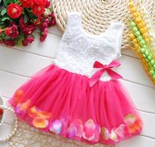 (1piece /lot) 100% cotton Hollow  baby  princess Chiffon refreshing dress summer 2015(China (Mainland))