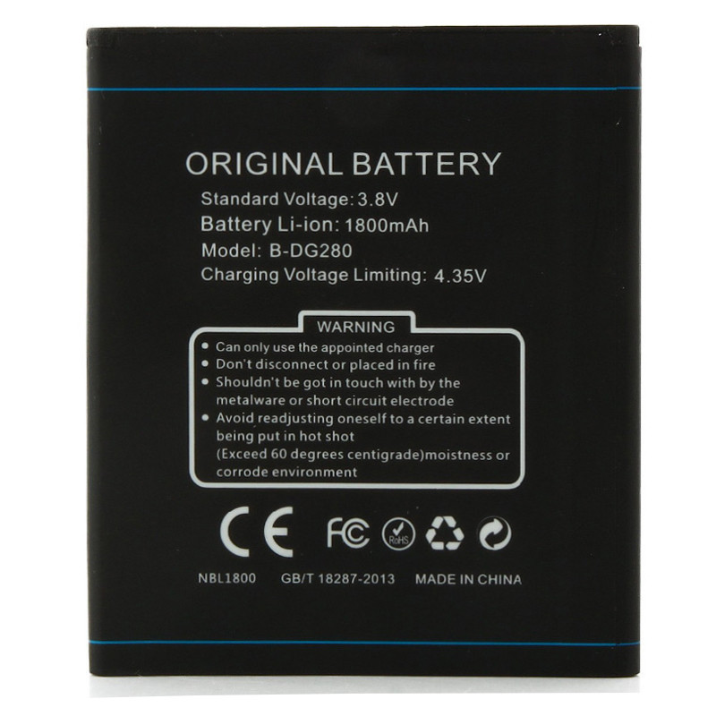 DOOGEE DG280 Battery 1800mAh 100% Original New High Quality Replacement For DOOGEE LEO Mobile Phone Battery free shipping