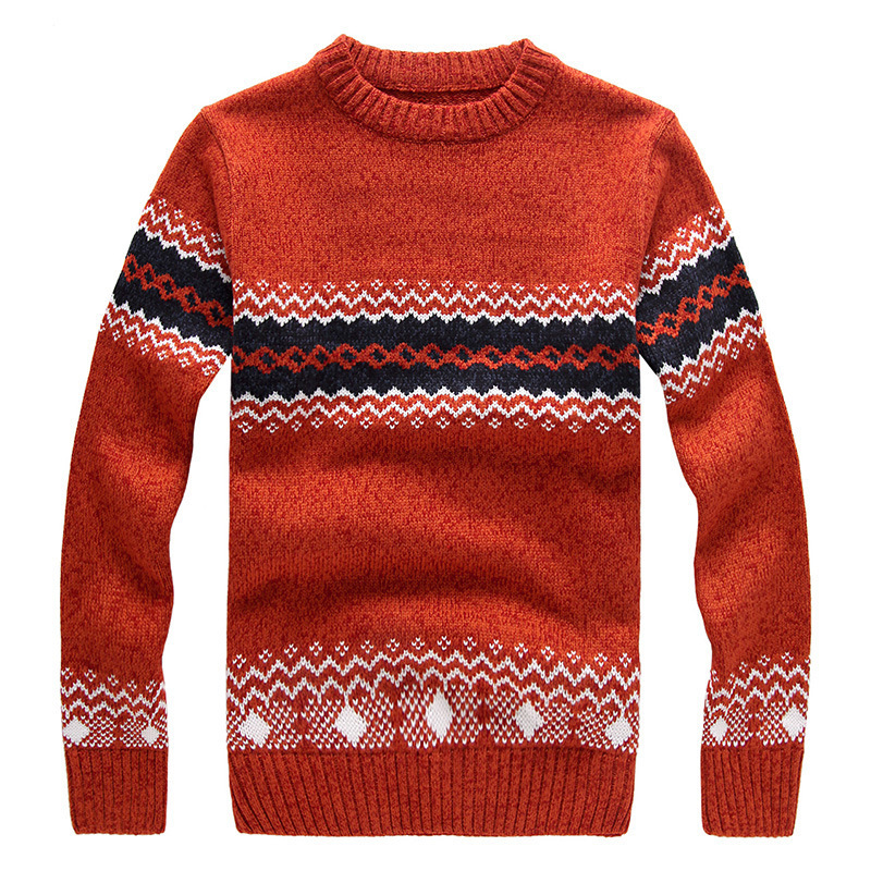 Men Sweater Patterns Floral 2015 New Arrive Fashion Men Thick Woolen Sweater Designers Pullover Men Casual Patterns Sweater Coat(China (Mainland))