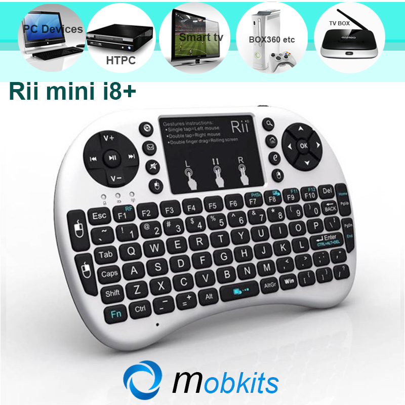100% Original RII Mini i8+ Fly Air Mouse for PC Notebook Android TV Box HTPC RII i8 Plus Wireless Keyboard TouchPad for Tablet(China (Mainland))