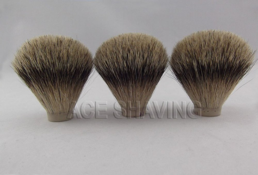 3 pieces of best badger hair shaving brush knot brush head(knot size 21mm)(China (Mainland))