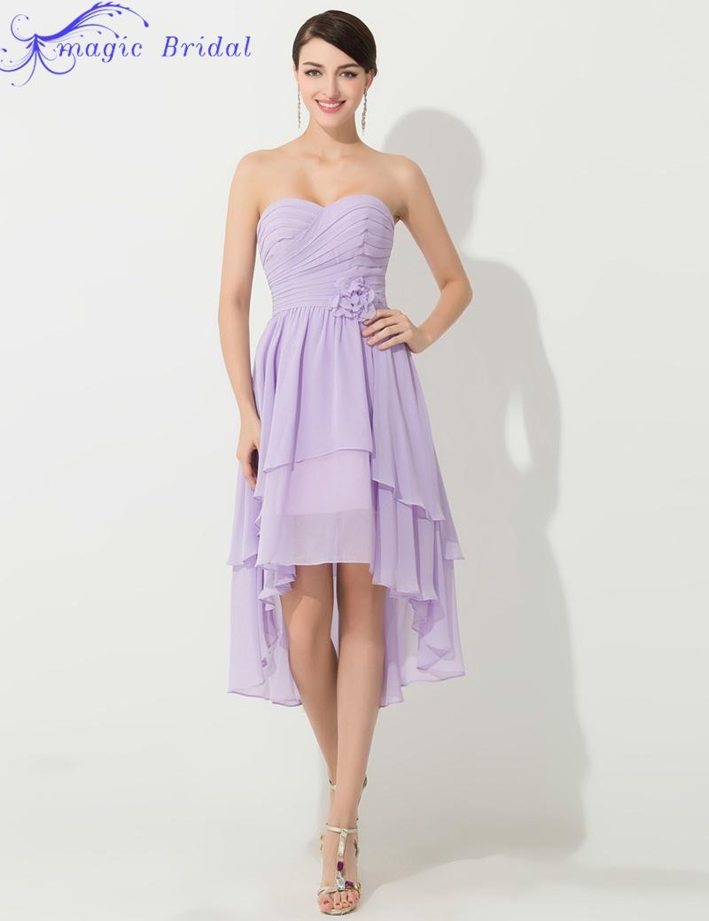 Vestido de madrinha plus size cheap purple short chiffon for High low wedding dresses cheap