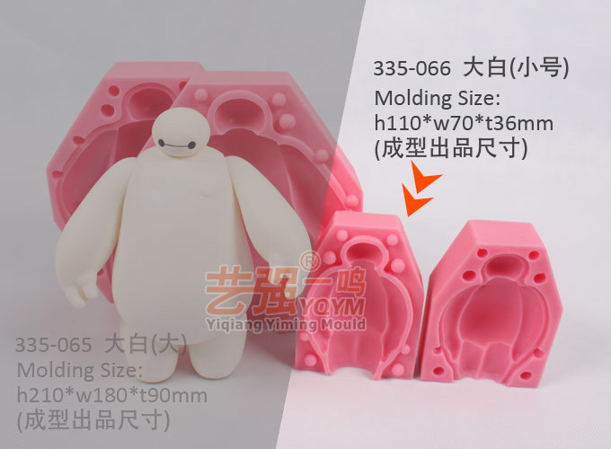 silicone small size baymax cake mold YQYM 2016 New Arrival free shipping cake decorating tools silicone cake mold baking tools(China (Mainland))