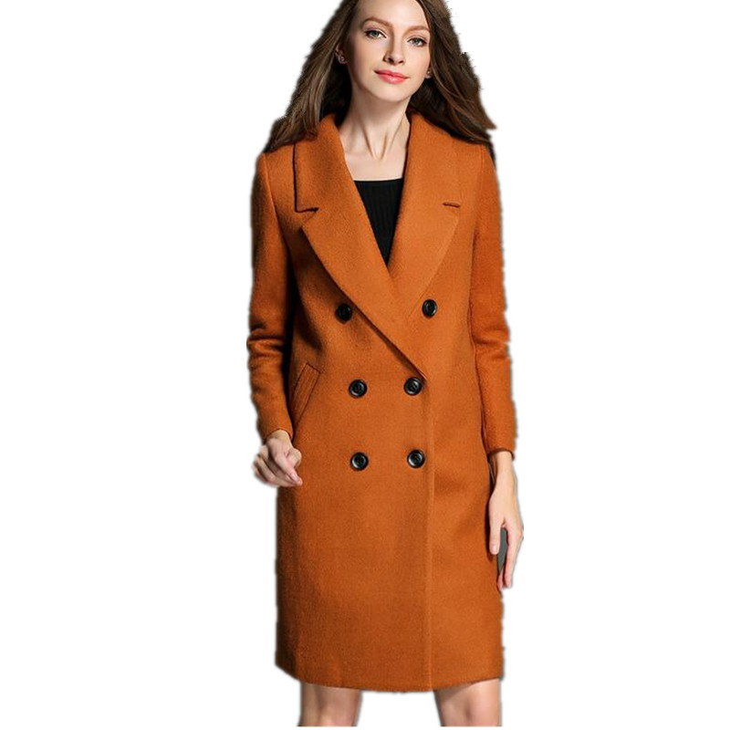 Wool coat women for Europe 2015 winter new style fashion cultivate ones morality in thin long double-breasted wool coatОдежда и ак�е��уары<br><br><br>Aliexpress