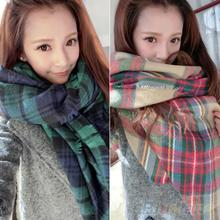 2016 Lady Women Blanket Oversized Tartan Scarf Shawl Plaid Cozy Checked Pashmina 8OD8