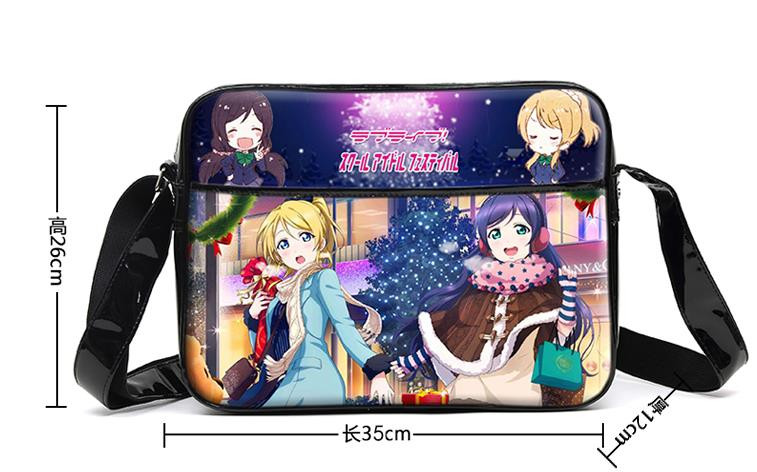 New Japan Anime Love Live Cosplay Bag Women Girls Students Shoulder Book Bag PU Waterproof Messenger Bags