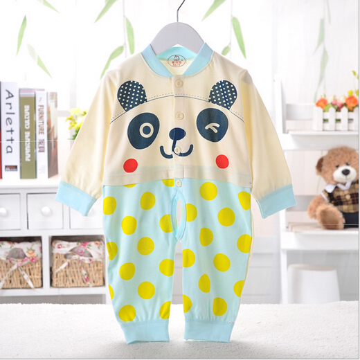2015 Baby new style Baby clothes 100% Cotton Cartoon Bears pattern Baby romber(China (Mainland))