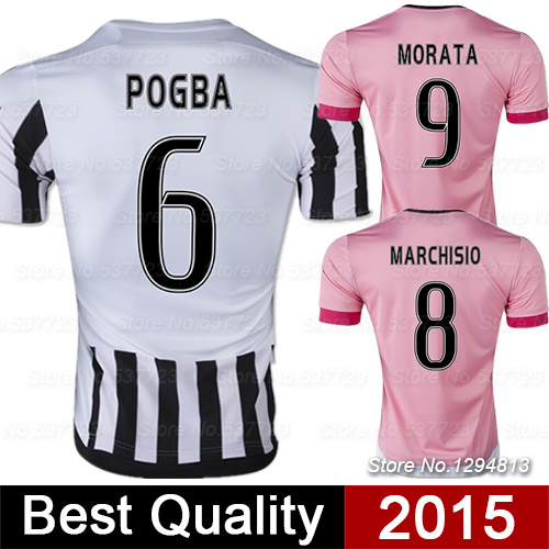 Camisetas de futbol 2016 PIRLO POGBA Soccer Jerseys 15 16 Survetement Football Jerseys maillot de foot Soccer Uniform(China (Mainland))