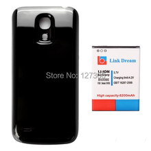 Black Cover 6200mAh Mobile Phone Battery & Cover Back Door for Samsung Galaxy S4 Mini  i9190  i9192