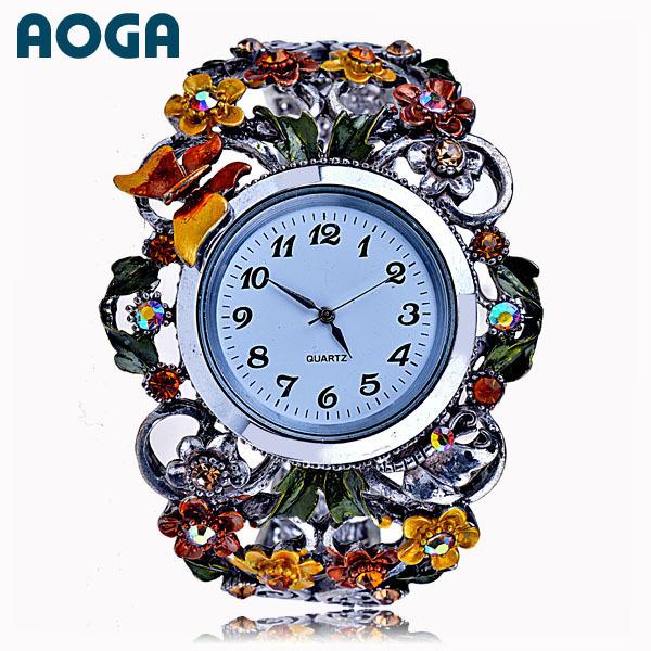2014 new women vintage crystal bangle bracelet watch Fashion Ladies Wristwatch W2145 - Taideli ( AOGA Brand store Jewelry)
