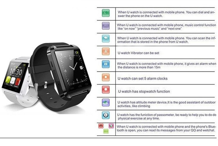 "Fashionable Mobile Phone Watch Smart Watch with 1.33"" Touch LCD 1.3MP Camera support Bluetooth(China (Mainland))"