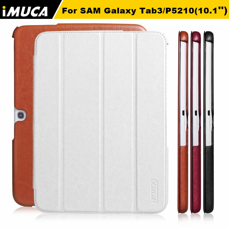 Luxury Protective Skins Book Cover Case Samsung Galaxy Tab 3 10.1 P5200/P5210 PU Leather+ stand Design - iMUCA Communication Co.,ltd store