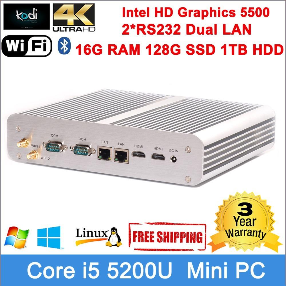 2560*1600 Dual HDMI display Winodws 8.1 Nettop HTPC Core i5 5200U 2.2GHz CPU youtube Facebook Mini windows pc 300M wifi Dual LAN(China (Mainland))