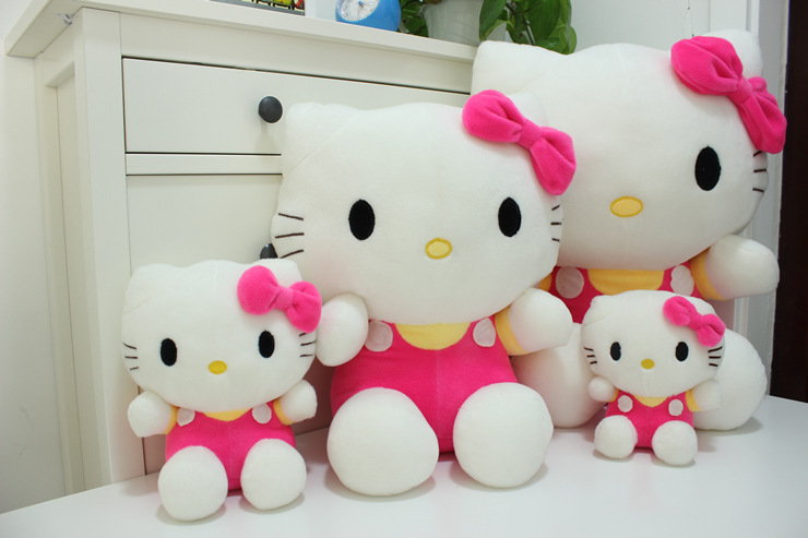 Hot sale 35,45cm Pelucia Hello Kitty dolls toys for children Girl gift Baby toys Plush Classic Toys brinquedos Valentine gifts(China (Mainland))