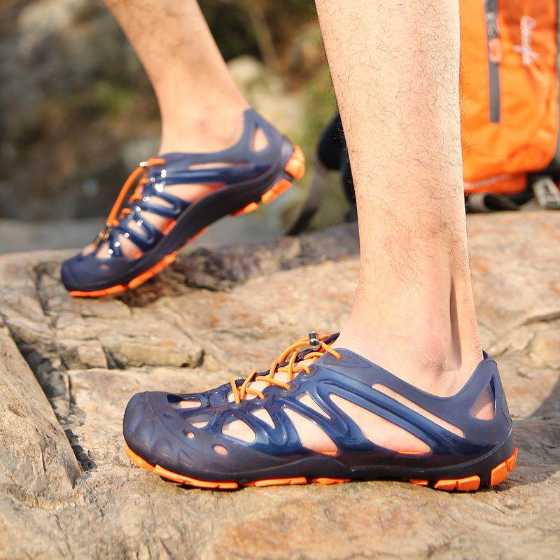 2015 space generation outdoor sandals breathable male quick-drying hole walking shoes water - Cher Discount Stores store