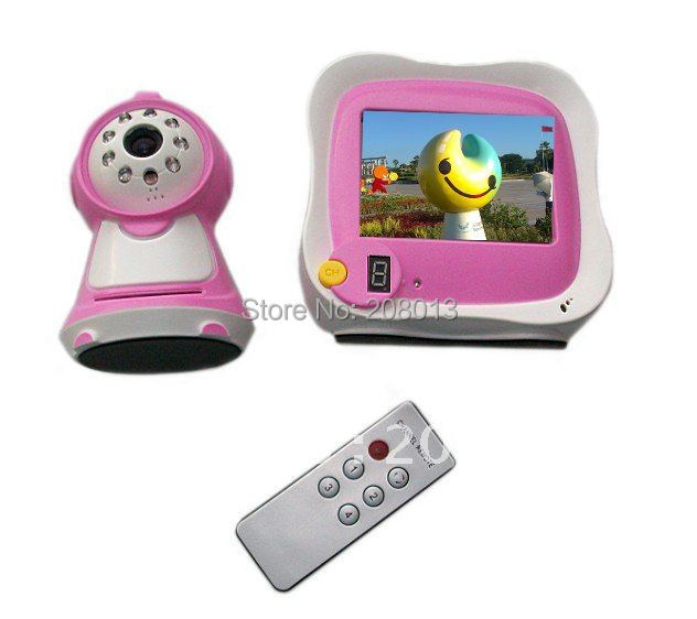 New arrival Wholesale Helloween present Free shipping 3.5 inch 2.4Ghz wireless baby monitor(China (Mainland))