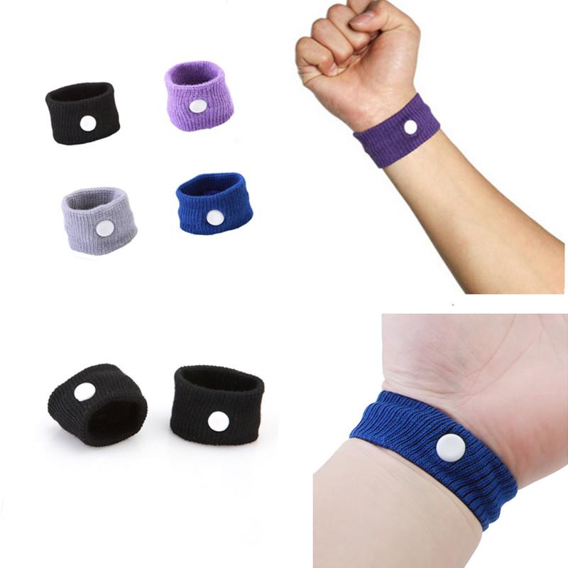1 pair Wrist band Travel Car Sea Van Plane Wristbands Anti Nausea Car Seasick Sickness bracelet Reusable