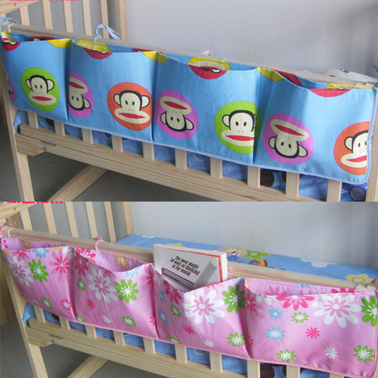 100cm*22cm Baby Bed Organizer Toys Diaper Storage Hanging Bags Kid Bed Accessories Supplies Products(China (Mainland))