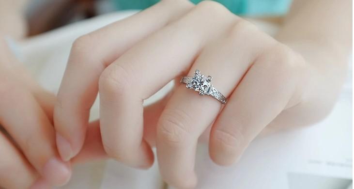 מגדל אייפל טבעות נישואין bague לנשים כסף סטרלינג 925 תכשיטי קריסטל וינטג הטבעת על הגברת אביזרים ASR040
