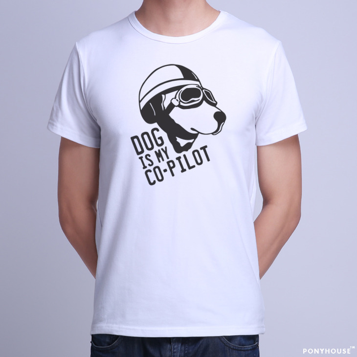 Гаджет  2015K BEP ODD DOG IS MY COPILOT copilot male dog t-shirt short sleeve None Изготовление под заказ