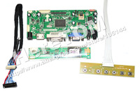 HDMI+VGA+DVI LCD Controller Board For LP156WH1 Screen + 1c 6Bit 30 Pins LVDS cable+ One Lamp Universal Inverter+ Mini Keyvboard