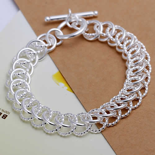 Promotion! Free Shipping Wholesale 925 silver bracelet, 925 silver fashion jewelry Centipede Bracelet H022(China (Mainland))