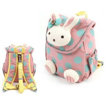 2015 новинка звериного стиля мешок школы милый 3d кролик плюшевые рюкзак, Дети школьные ...