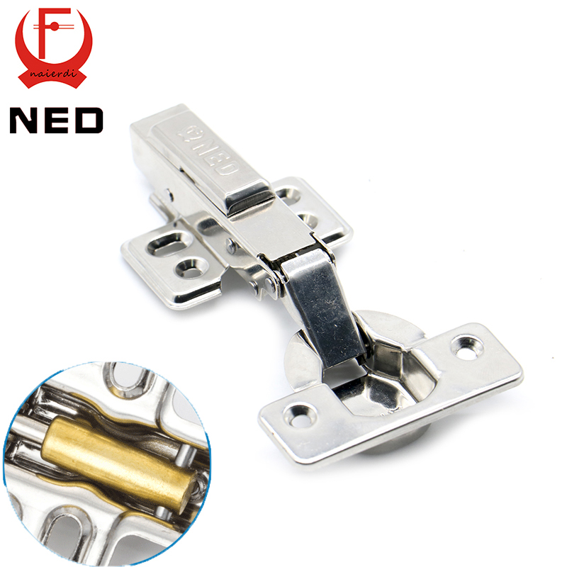 10PCS NED Super Strong 40MM Cup Hinges Stainless Steel Hydraulic Copper Core Hinge For Cupboard Cabinet Door Furniture Hardware(China (Mainland))