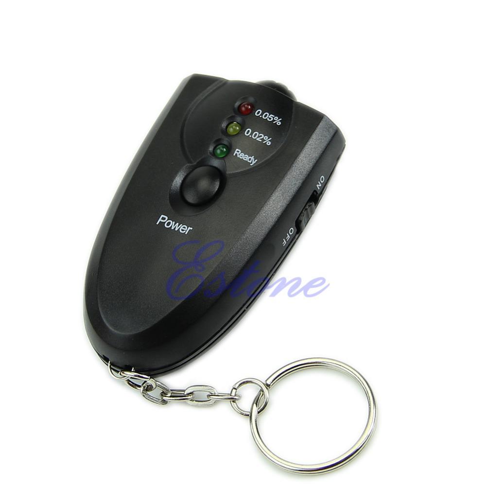 New Breathalyzer Keychain Led Breath Alcohol Tester With Flashlight(China (Mainland))