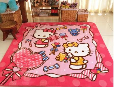 soft coral fleece cartoon couch child climbing mats kids rugs crawl carpet sponge slip resistant - Kids Bedroom Mats