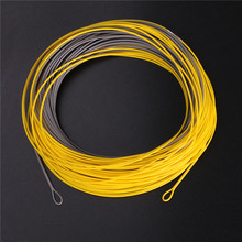 Lot of 2 pieces YELLOW/GREY color double color WINDCUTTER WF7F floating fly fishing line
