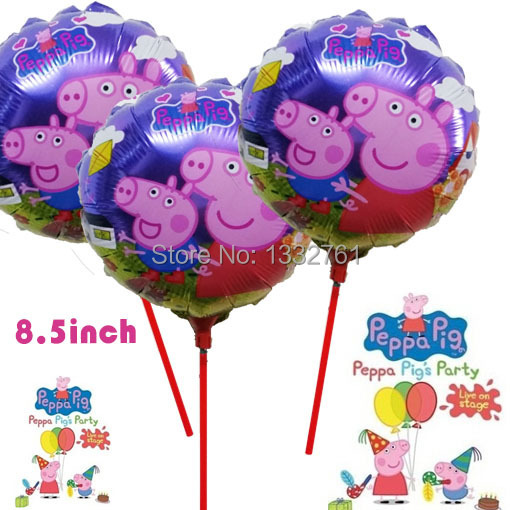 Воздушный шар KT 20pcs/lot peppa peppa /21 * 21 baloes 0190 воздушный шар qp 10pcs lot 18 baloes infantil 2081