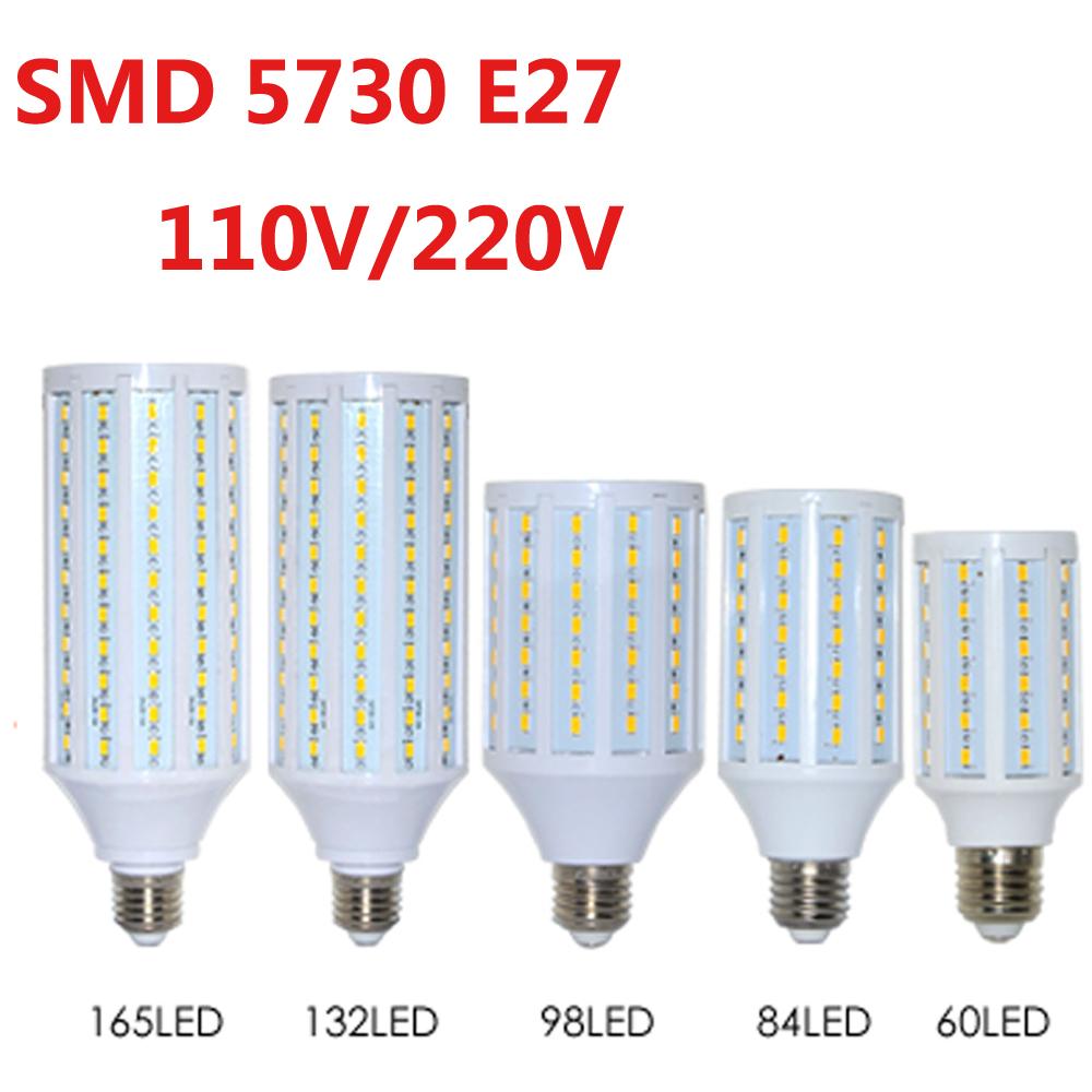 2016 NEW 5730 SMD LED Lamp 24/42/60/84/98/132/165 Leds LED Corn Bulb E27 220V/110V Corn bulb light(China (Mainland))