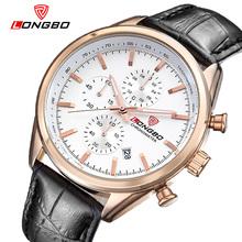 LONGBO Luxury Men Full Steel Leather Watch Sports Quartz Watches For Men Leisure Clock Military Watch Relogio Masculino 80179